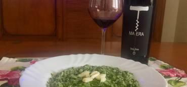Risotto agli spinaci e provola affumicata